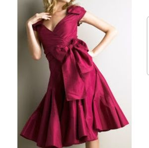 "DVF silk taffeta berry colored ""sue park"" dress"